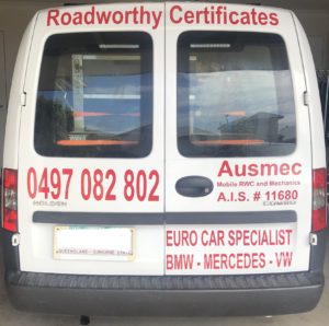 Roadworthy Certificate Mango Hill - Mobile Mechanic Brisbane